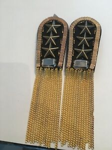 Pair of Black and Gold Epaulettes Steampunk UK Seller