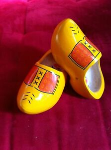 Dutch Wooden Clogs  Yellow Farmer size 30/31 =20 cm many sizes available