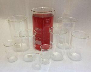 Borosilicate Glass Beakers, Tall-Form , 50 100 150 250 400 500 600 800ml, 1 & 2L
