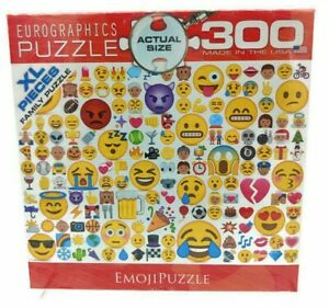 Eurographics Emoji 300 XL Pieces Family Jigsaw Puzzle NEW Sealed Made in USA