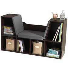 KidKraft KidKraft Bookcase with Reading Nook Toy, Espresso New
