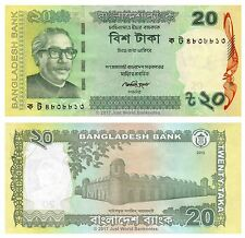 Bangladesh 20 Taka 2012  P-55A 2nd Issue Banknotes UNC