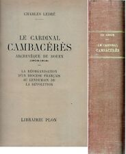 C1 NAPOLEON Cardinal CAMBACERES Reorganisation DIOCESE ROUEN 1802 1818 Concordat