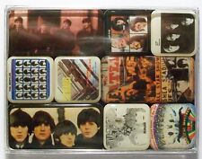 THE BEATLES ALBUM COVERS Set of 9 Mini Fridge Magnets In Clear Plastic Box BNIB