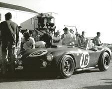 Vintage 8 X 10 Auto Racing Photo 1963 Sebring Shelby Cobra Phil Hill
