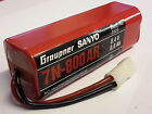 Drums Rechargeable Ni-Cad 8,4V 7N 800MAh GRAUPNER SANYO Battery Pack N° 2525