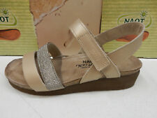 Naot Womens Krista Satin Gold Leather Silver Rivets Size Eu 40