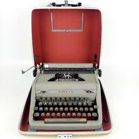 Vintage Royal Arrow Portable Gray Typewriter Travel Case Tested