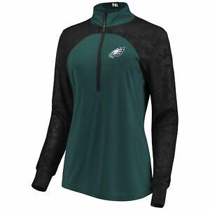 Fanatics Women's NFL Defender Blocked Half-Zip Pullover - Eagles Size XLG
