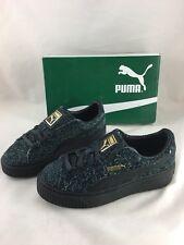 PUMA Womens Winterized Fuzzy Suede Platform Elemental Casual Sneaker Size 6
