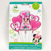 Minnie 1st Birthday Balloon Bouquet Party Supplies Foil Balloon Gift Favor