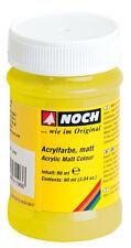 NOCH 61186 Peinture acrylique, mat, jaune, Contenu 90ml ( 100ml=