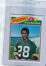 1977 Topps Mexican # 402  WILLIE BUCHANON  Packers  San Diego State    stf