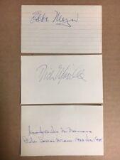 Tom McBride 1946 Red Sox Signed Index Card JSA Precertified**