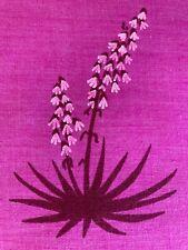MCM Vintage Leona Caldwell Hand Silkscreened Agave Cactus on Kettle Cloth Fabric