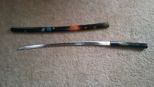 hand painted shirasaya katana