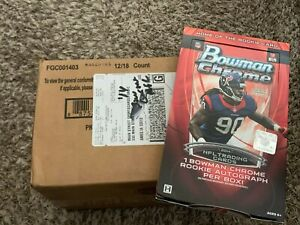 2014 Bowman Chrome Football Factory Sealed Hobby Case - 12 Box - Case Hit