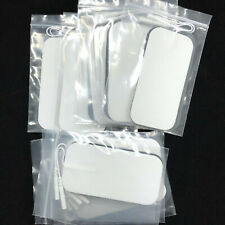 10x Electrode Pads Extra Large 7x12 cm Replacement Patches White for Tens Unit