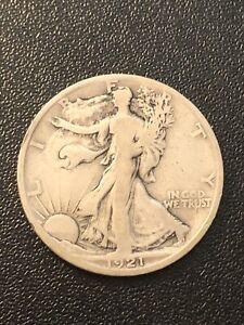 1921S Walking Liberty Half Dollar F