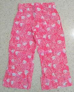 Lilly Pulitzer Size Medium 100% Linen Cropped Pink Fish Capri Beach Pants