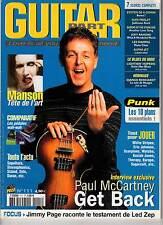 "GUITAR PART #111 ""Paul McCartney,John 5,J.Page,Marilyn Manson"" (REVUE)"