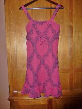 FREE PEOPLE Gauze Cotton Print Empire Waist Resort Summer DRESS Sz S/P