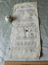 Rare Antique c1920 Hand Embroidered Appenzell Floral Sample Book~Dolls,Design