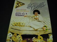 HOT CHOCOLATE Every 1's A Winner lady eating chocolate records 1979 PROMO AD