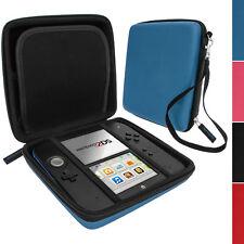 Azul Eva Duro almacenamiento Protectora Funda Protectora Con Asa de transporte para Nintendo 2ds
