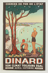 """French seaside Vintage ravel Poster Print on canvas art painting 36"""""""