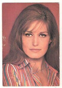 Autografo cantante Dalida su cartolina