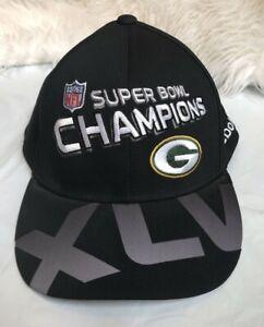 NWT Green Bay Packers Hat Cap Super Bowl XLV 45 Champions Reebok NFL