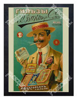 Historic Russian Viktorson Cigarette Covers, 1905 Advertising Postcard