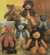 """SEWING PATTERN Simplicity 5461 BEAR WITH ACCESSORIES 18"""" & 22"""" by Elaine Heigl"""