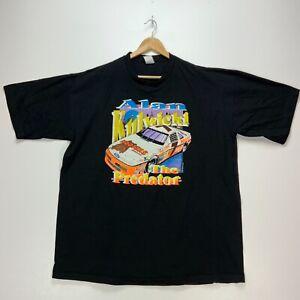 1992 Alan Kulwicki The Predator Hooters Racing Vintage T-shirt 2XL Black Nascar
