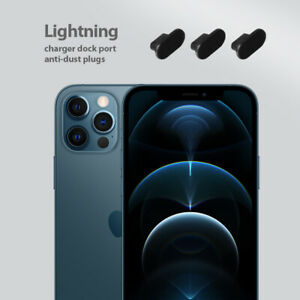 3x Charger Dock Port Jack Lightning Anti Dust Plugs Silicone For iPhone 12 pro