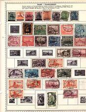 Saar stamps 1920-1950  48 STAMPS IN  LOT (HO2