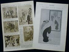 MAX BEERBOHM CARICATURIST ARTIST PRINT & ARTICLE ARTHUR WING PINERO 1903 / 1952