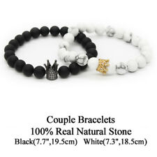 Bracelet White With Crown White Gold Color Charm Antifatigue Woman Man Gift