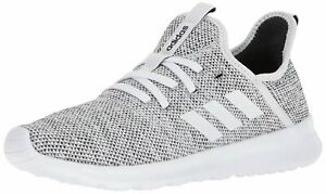 Adidas Womens Cloudfoam Pure Low Top Lace Up, White/White/Black, Size 8.0 k2NV
