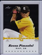 Keven Pimentel 2013 Leaf Perfect Game Gold Parallel Miami Hurricanes Baseball
