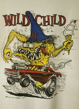 VINTAGE Ed Big Daddy Roth PRE-OWNED WILD CHILD Size Large T-Shirt