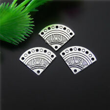 **16x Antiqued Silver Alloy Sector Shape Charms Pendant Craft Jewelry 21*11*6mm