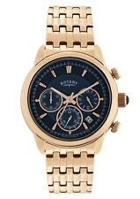 Rotary Monaco Blue Dial Bracelet Watch GB02879/05 RRP £189.95 Our Price £132.50