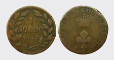 LUCCA - CARLO LUDOVICO BORBONE 1824-1847 -AE/ 1 SOLDO 1841
