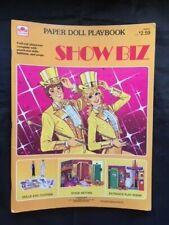 Paper Doll Playbook, Show Biz, A Golden Book, 1983, Uncut