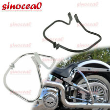 US-TGHD-SG04-I-BK HTTMT Saddlebag Bracket Guard Crash Bar Compatible With Harley Touring Electra Glide 14-18