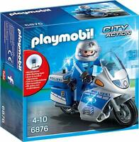 Playmobil Motorradstreife Polizei Motorrad LED Blinklicht Kinder Spielzeug Spass