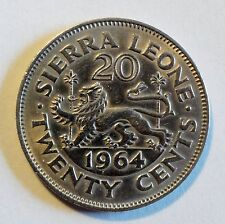 Sierra Leone - 20 / Twenty Cents - 1964 - vz bis stgl / near unc (1999