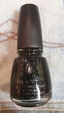 China Glaze Cosmic Nail Polish Lacquer - Specialty Collection - black glitter